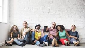 Concept de bonheur de loisirs d'unité d'amitié de personnes Photos libres de droits