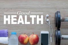 Concept de bonne santé Mode de vie sain pour le fond Photos stock