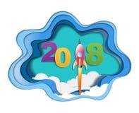 concept de 2018 bonnes années, symboles du début et célébration, inspiration à la mode de calibre pour votre conception Illustration Libre de Droits