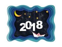 concept de 2018 bonnes années, symboles du début et célébration, inspiration à la mode de calibre pour votre conception Illustration de Vecteur
