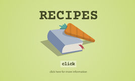 Concept de Book Ingredients List de cuisinier de recettes Photos libres de droits