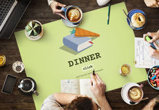 Concept de Book Meal Preparation de cuisinier de dîner Photos stock