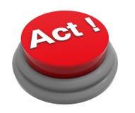 Concept de bouton d'acte illustration de vecteur