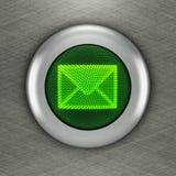 Concept de bouton de courrier Photos stock
