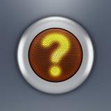 Concept de bouton de question Image libre de droits