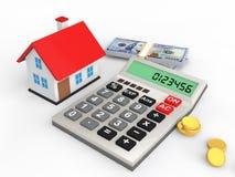concept de budget de la maison 3d illustration libre de droits