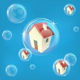 Concept de bulle immobilière illustration stock