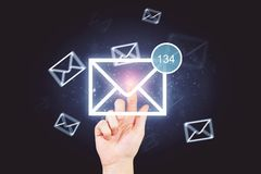 Concept de bulletin d'information et de courrier image stock