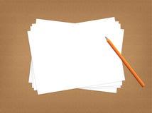 Concept de bureau avec un papier blanc photographie stock - Credit carrefour papier a fournir ...
