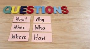 Concept 26 de Busniess de questions Image stock