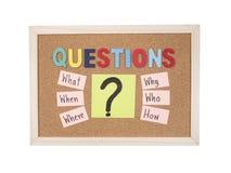 Concept 30 de Busniess de questions Image stock