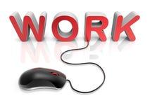 Concept de câble des textes de travail Image stock