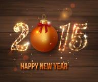 Concept 2015 de célébration de bonne année sur en bois Photos libres de droits