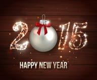 Concept 2015 de célébration de bonne année sur en bois Images libres de droits