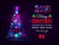 Concept 2015 de célébration de Joyeux Noël avec Noël Photo stock