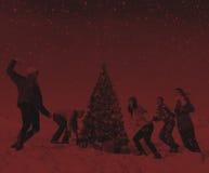 Concept de célébration de vacances d'hiver de Noël d'amis Images stock