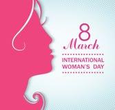 Concept de célébrations du jour des femmes heureuses Photo stock