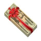 Concept de cadeau d'argent Photographie stock