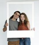 Concept de cadre de photo d'amour de couples Photo libre de droits