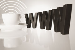 Concept de café de Cyber. Images stock