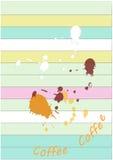 Concept de café de fond, illustration de vecteur de couleur de vintage Photographie stock libre de droits
