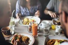 Concept de café de la Communauté de restaurant de consommation de nourriture photos stock