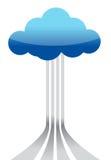 Concept de calcul de destinations de nuage Photographie stock