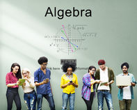 Concept de calcul de la géométrie de formule d'équation Photo libre de droits