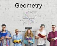 Concept de calcul de la géométrie de formule d'équation Images stock
