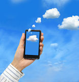 Concept de calcul de nuage Photos stock