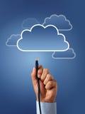Concept de calcul de nuage images stock