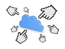 Concept de calcul de nuage. Image libre de droits