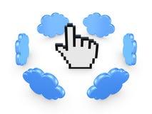 Concept de calcul de nuage. Photographie stock libre de droits