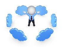 Concept de calcul de nuage. Image stock