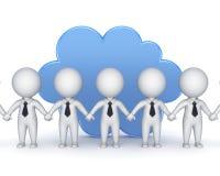 Concept de calcul de nuage. Photos stock