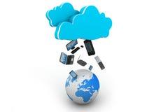 Concept de calcul de nuage Photos libres de droits