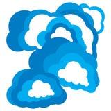 Concept de calcul de nuage abstrait Image libre de droits
