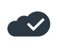 Concept de calcul de nuage avec le coche Image libre de droits