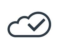 Concept de calcul de nuage avec le coche Photographie stock libre de droits