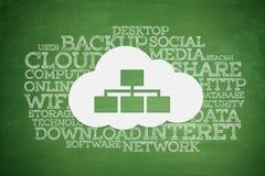Concept de calcul de nuage sur le tableau noir Image libre de droits
