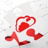 Concept de calcul : Nuage sur le fond de puzzle Photo libre de droits