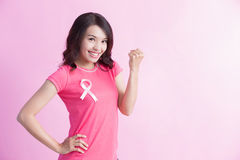 Concept de cancer du sein de prévention Image libre de droits