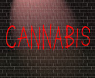Concept de cannabis. Image libre de droits