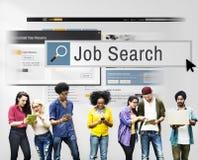 Concept de carrière de Job Search Human Resources Recruitment Images libres de droits