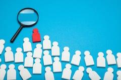 Concept de carrière, recrue du travail Le talent juste a voulu images stock