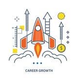 Concept de carrièregroei en startzaken royalty-vrije illustratie