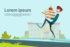 Concept de Carry Book Stack School Education d'écolier Image libre de droits