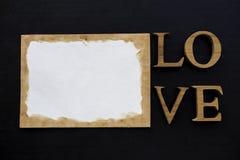 Concept de carte de valentine de vintage Images libres de droits
