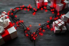 Concept de carte de voeux de jour de valentines Photographie stock libre de droits