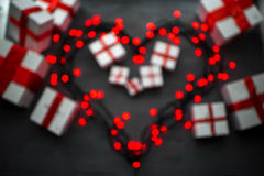 Concept de carte de voeux de jour de valentines Images libres de droits
